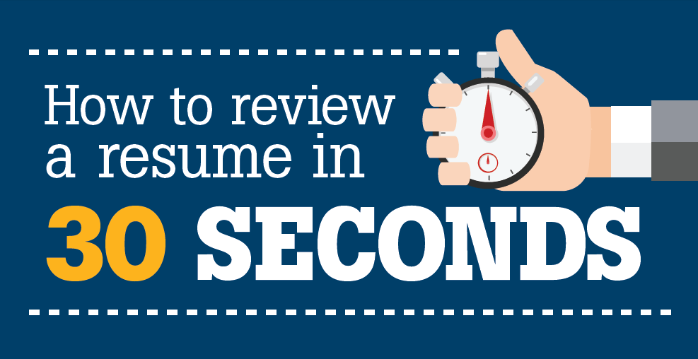 how to review a resume in 30 seconds infographic hireright