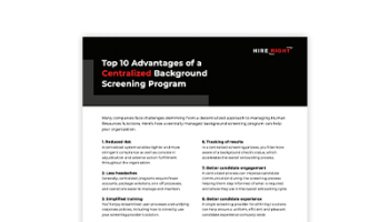 Top 10 Advantages of a Centralised Global Background Screening Programme