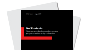 No Shortcuts: A Guide To Employment Background Checks