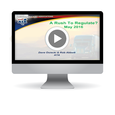 Webinar: Transportation Regulatory Update with American Trucking Associations (ATA)