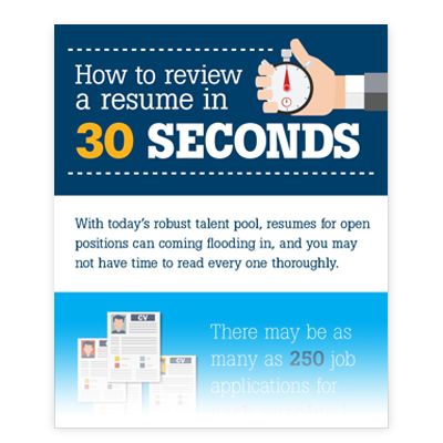How to Review a Resume in 30 Seconds [Infographic]