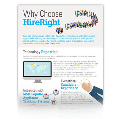 Why Leading Enterprise Organizations Choose HireRight