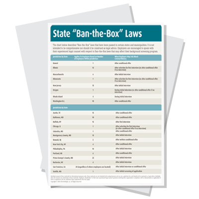 State Ban the Box Laws