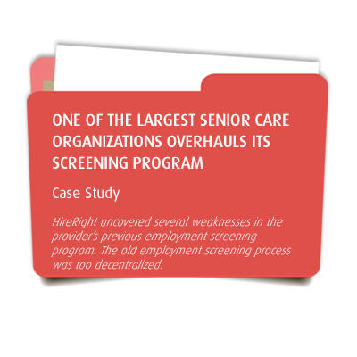 One of the Largest Senior Care Organizations Overhauls Its Screening Program