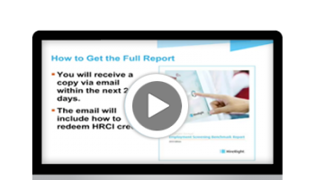 2014 Employment Screening Benchmarking Report Results Webinar