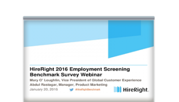 2016 Employment Screening Benchmark Survey Results