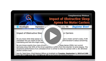 Impact of Obstructive Sleep Apnea (OSA) for Motor Carriers