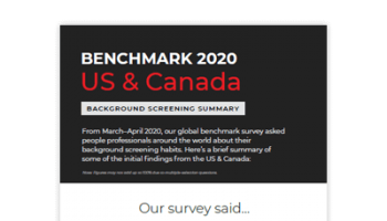2020 Benchmark - US & Canada Summary