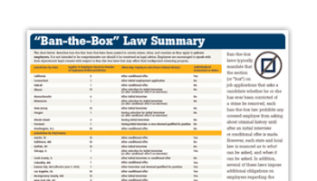 Ban-the-Box Law Summary
