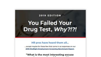 You Failed Your Drug Test, WHY?!