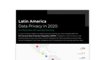 Infographic: Latin American Data Privacy in 2020 by Country