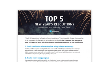 HR Pros New Year's Resolutions for 2019