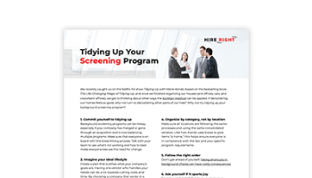 Tidying Up Your Screening Program