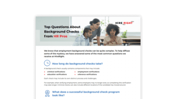 Top Questions About Background Checks from HR Pros