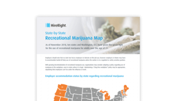 State by State Recreational Marijuana Map