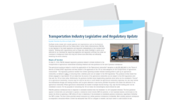 Transportation Industry Regulatory Update