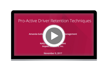 Pro Active Driver Retention Techniques