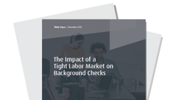 The Impact of a Tight Labor Market on Background Checks