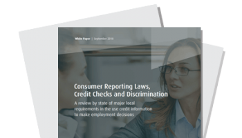 Consumer Reporting Laws, Credit Checks and Discrimination