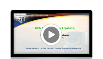 Transportation Regulatory Update with ATA