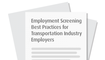 Employment Screening Best Practices for Transportation Employers
