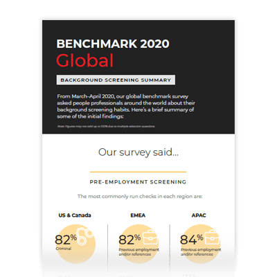 2020 Benchmark - Global Summary