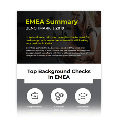 2019 HireRight EMEA Benchmark Summary Infographic