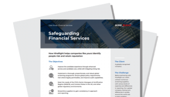 Safeguarding Financial Services – A HireRight Case Study