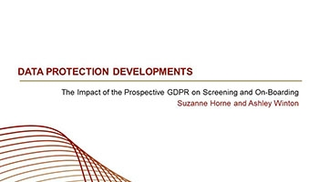 The Impact of the Prospective GDPR on Screening and On-Boarding