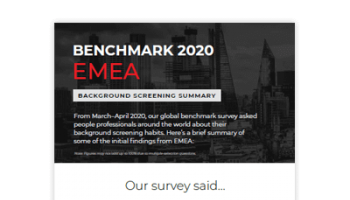 2020 Benchmark - EMEA Summary