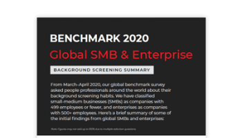 2020 Benchmark - Global SMB & Enterprise Summary