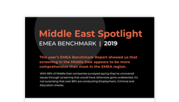 2019 HireRight Middle East Spotlight Infographic