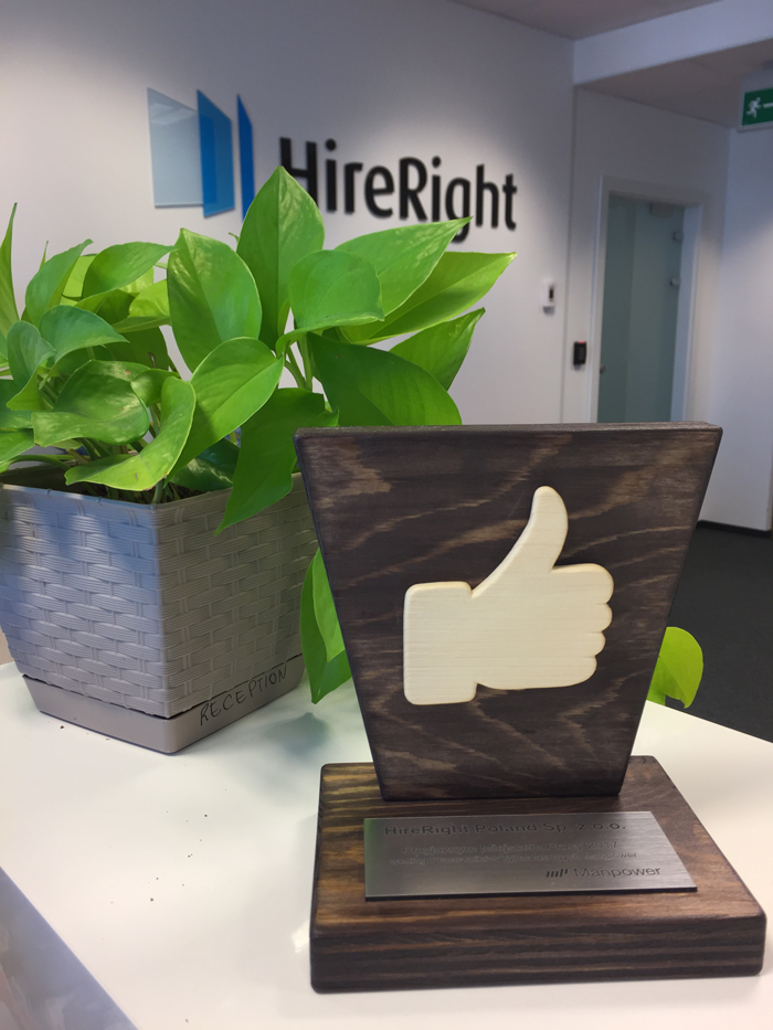 HireRight Poland Manpower Award 2017