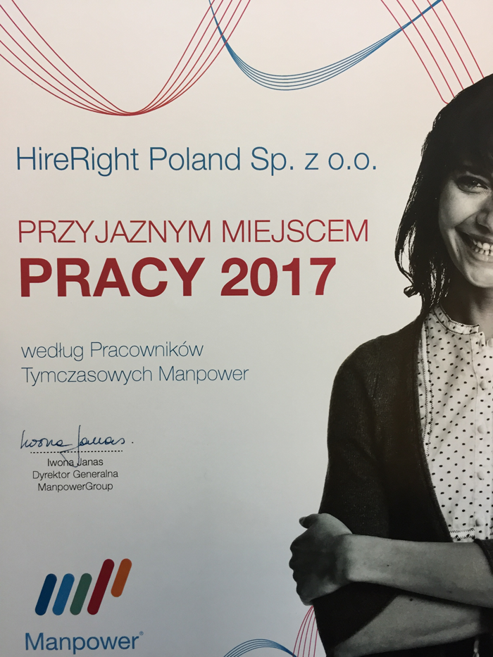 HireRight Poland Manpower Award