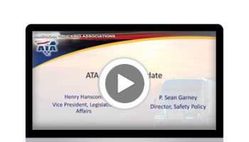 Transportation Regulatory Update with the ATA